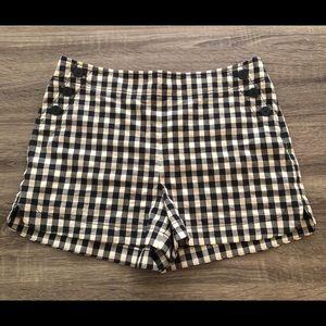 NWT Loft Gingham Black White Plaid Sailor Shorts